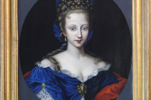 Rittrato di Violante di Baviera, het schone blauw van Montepulciano